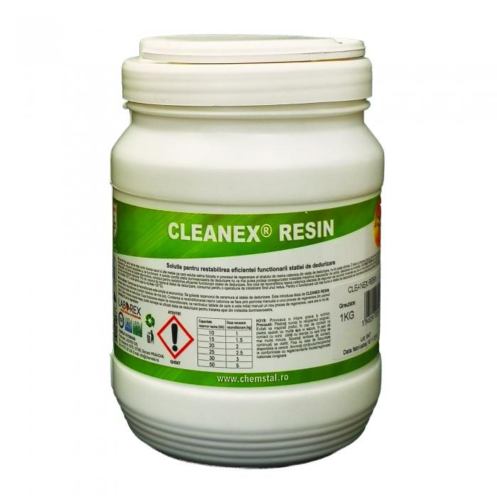 CLEANEX RESIN - Solutie pentru restabilirea eficientei functionarii statiei de dedurizare, CHEMSTAL, 1KG(borcan), cod:LBXCLRE001 0
