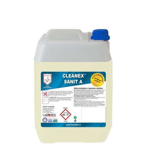 CLEANEX SANIT A - Solutie desfundare si igienizare canalizari, CHEMSTAL, 5KG, cod:LBXCLSANA5 [0]
