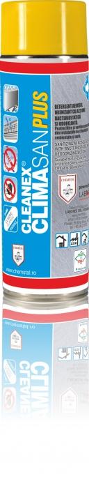 CLEANEX CLIMASAN PLUS - Spray igienizant pentru instalatia de aer conditionat, CHEMSTAL, 400ml, cod:CLISAN0400 [0]