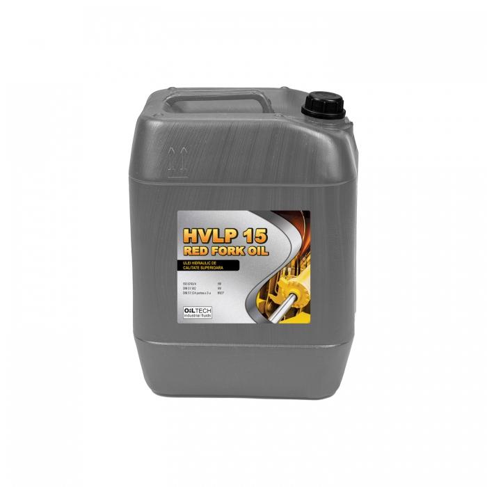 HVLP 15 RED FORK OIL - Ulei hidraulic de calitate superioara, OILTECH, 1L [0]
