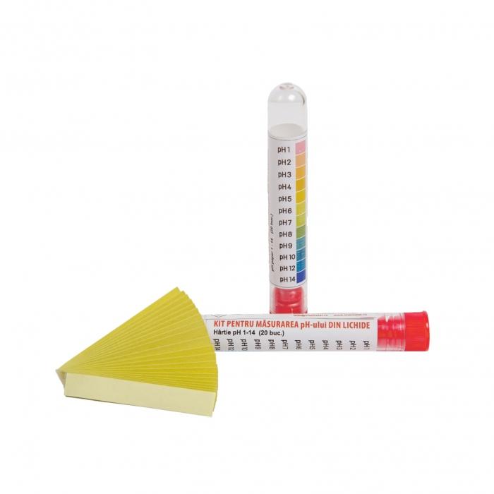 KIT DE TESTARE NIVEL DE pH - Determinarea calitativa a caracteristicii de pH a fluidelor, CHEMSTAL, cod: LBXKTPH020 [0]