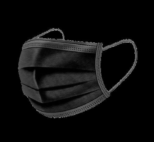 Masti-acoperitoare-faciale-3str/3ply-50buc/cutie-(negre) [0]