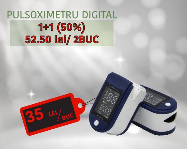Promotie Pulsoximetre Digitale 1+ 1 (-50%) = 2 Buc [0]