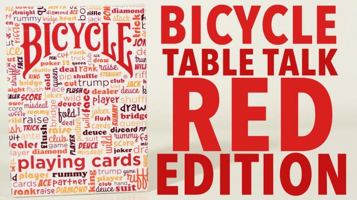 Pachet de carti Bicycle TABLE TALK 1