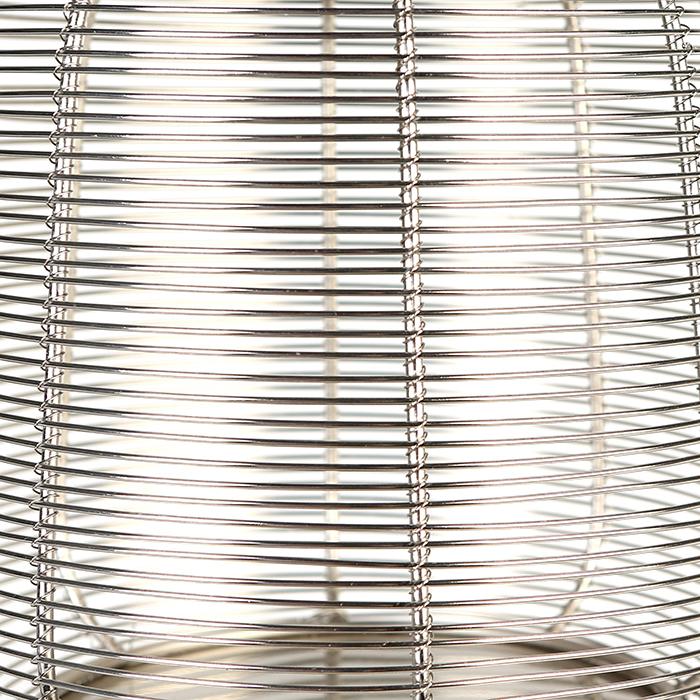 Set 2 felinare CAGE, otel inoxidabil/sticla, 44/27 cm 3