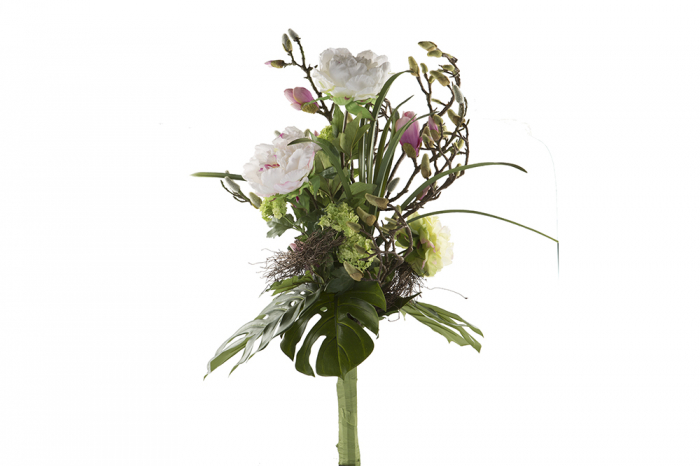 Set Vaza cu Buchet de flori SUPREME, sticla/matase, 95/40 cm 1