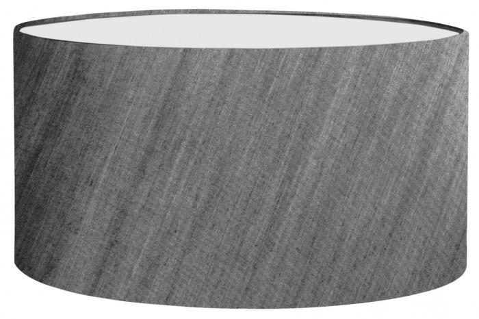 Abajur Solo, PVC Poliester, Gri, 48x26x28 cm imagine 2021 lotusland.ro