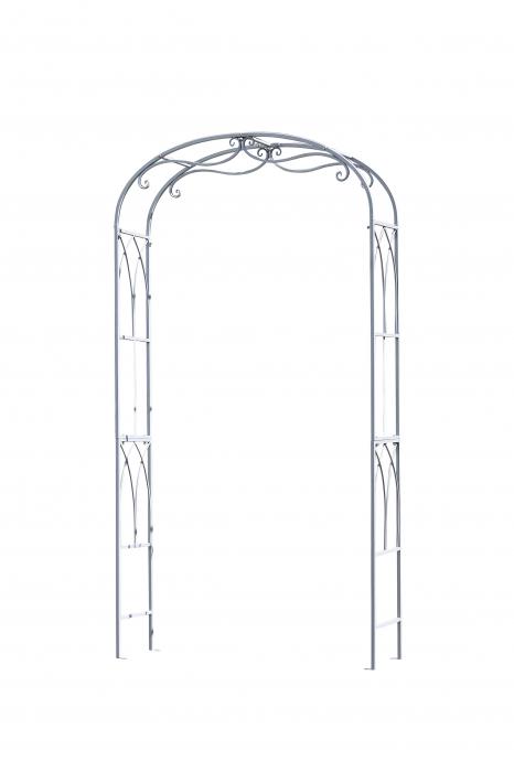 Arcada decorativa Rose, metal, gri, 106x206x32 cm 1