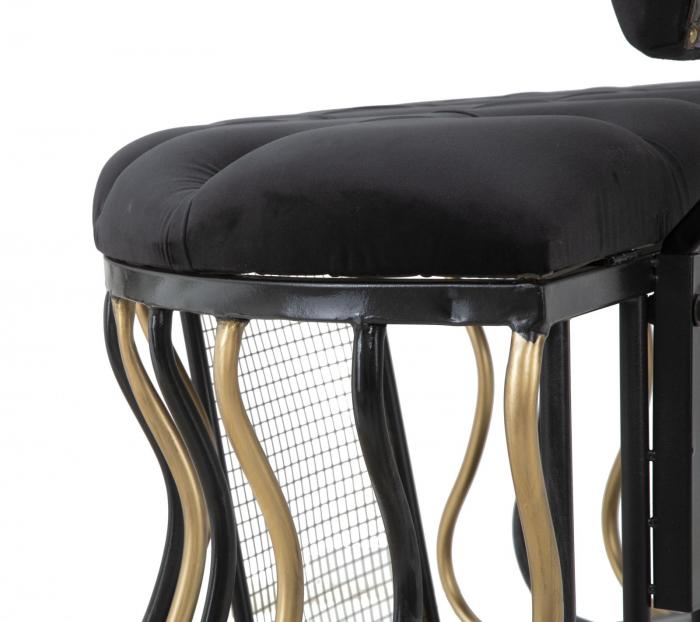 Bancuta GLAM negru/auriu(cm)  128X57X90 7
