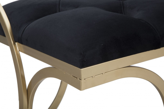 Bancuta LUXY, negru, 103X43X47 cm, Mauro Ferretti 8
