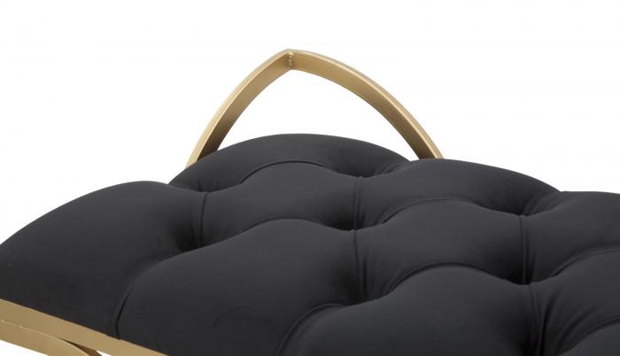 Bancuta LUXY, negru, 103X43X47 cm, Mauro Ferretti 4