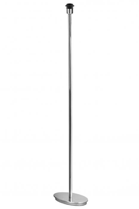 Baza lampa de podea Solo, Otel inoxidabil lustruit, Argintiu, 28x143x18 cm 2021 lotusland.ro