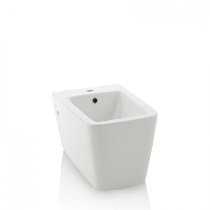 Bideu suspendat ROCK, Ceramica, Alb,  56x36x33 cm 0