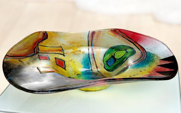 Bol CONFUSO, sticla, 48x12.5x48 cm imagine 2021 lotusland.ro