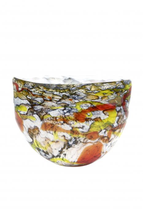 Bol decorativ Macula, sticla, multicolor, 31x22x16.5 cm lotusland.ro