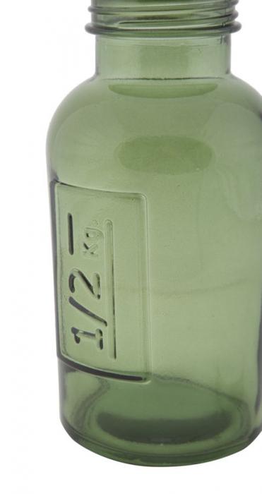 Borcan cu capac  sticla reciclata GREEN (cm) Ø 8,5X16,5 4