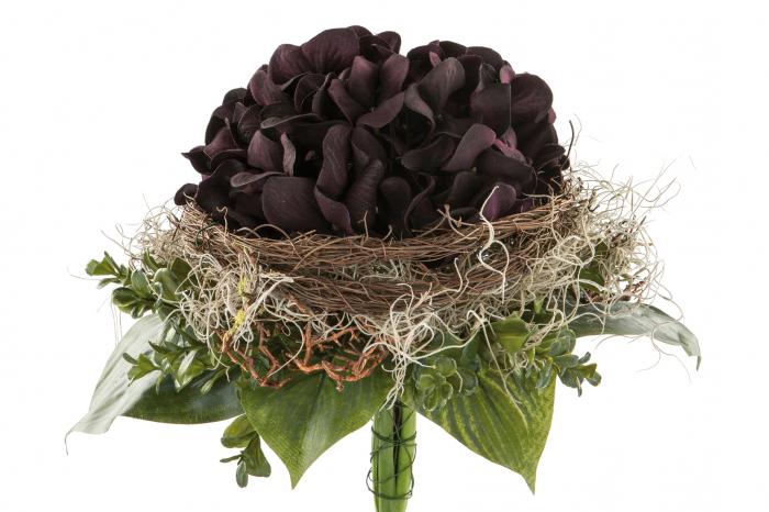 Buchet flori LILAC, fibre sintetice, 28x25 cm, Fink 0