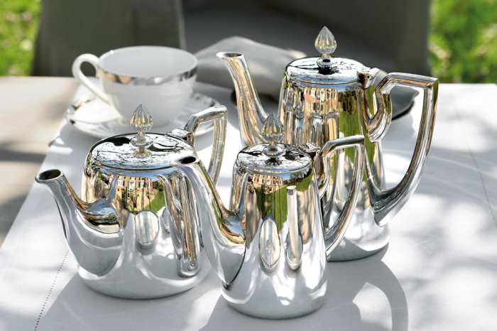 Cafetiera VIENNA, placata cu argint, 20 cm 1