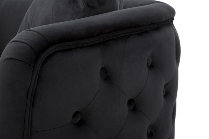 Canapea BUCHAREST, negru, 127X74X71 cm, Mauro Ferretti 5