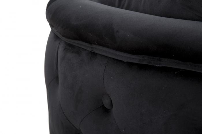 Canapea BUCHAREST, negru, 127X74X71 cm, Mauro Ferretti 8