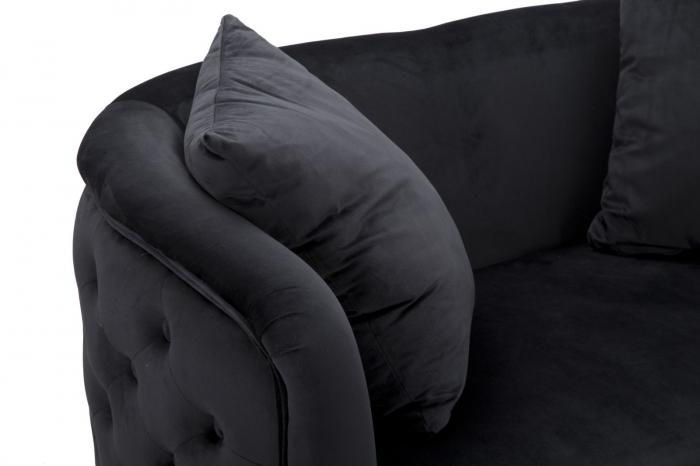 Canapea BUCHAREST, negru, 127X74X71 cm, Mauro Ferretti 6