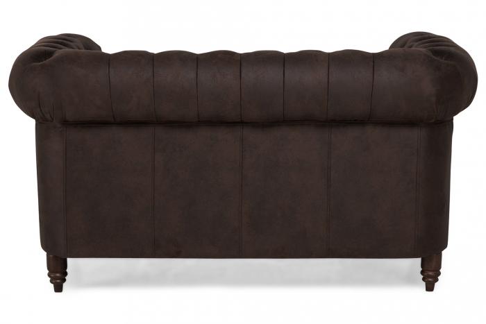 Canapea Chesterfield, 2 locuri, Maro , 150x80x86 cm 4