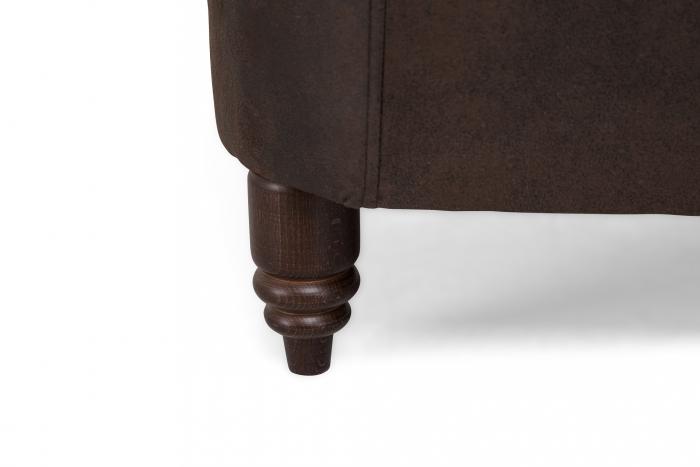 Canapea Chesterfield, 2 locuri, Maro , 150x80x86 cm 3