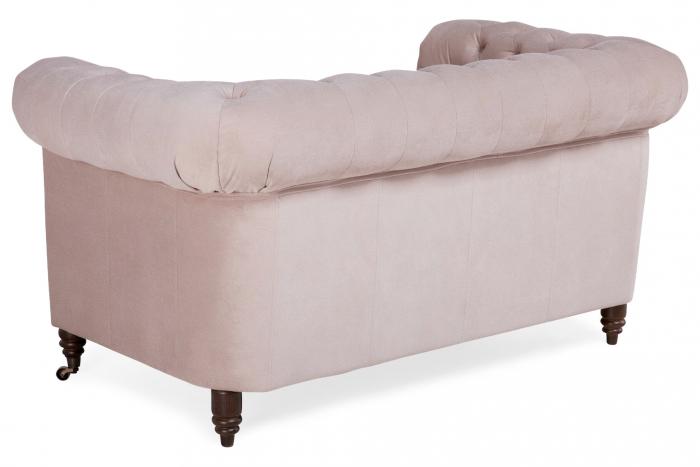 Canapea Chesterfield, 2 locuri, Roz, 150x80x86 cm 2