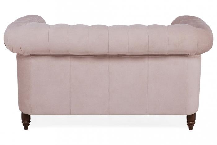 Canapea Chesterfield, 2 locuri, Roz, 150x80x86 cm 3