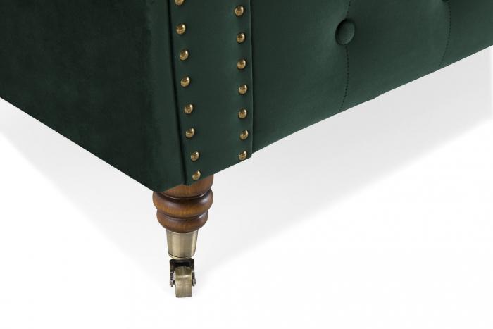 Canapea Chesterfield, 2 locuri, Verde, 150x80x86 cm 6