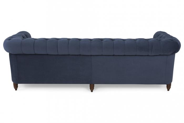 Canapea Chesterfield, 4  locuri, Albastru, 238x80x86 cm 2