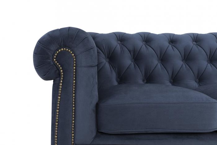 Canapea Chesterfield, 4  locuri, Albastru, 238x80x86 cm 4