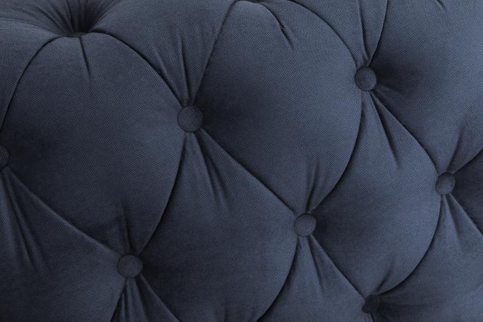 Canapea Chesterfield, 4  locuri, Albastru, 238x80x86 cm 6