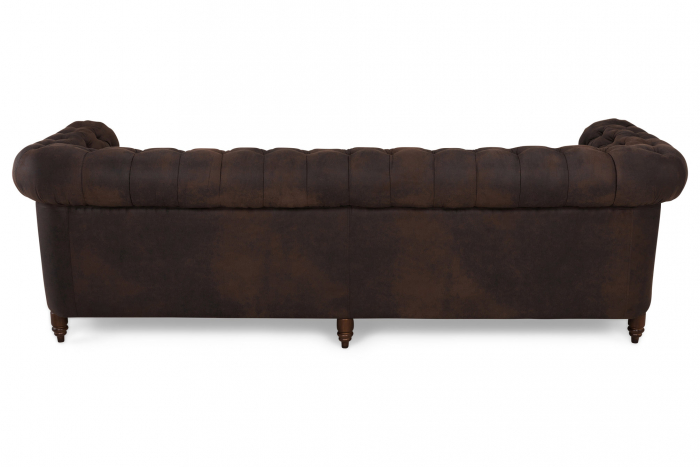 Canapea Chesterfield, 4  locuri, Maro , 238x80x86 cm 2