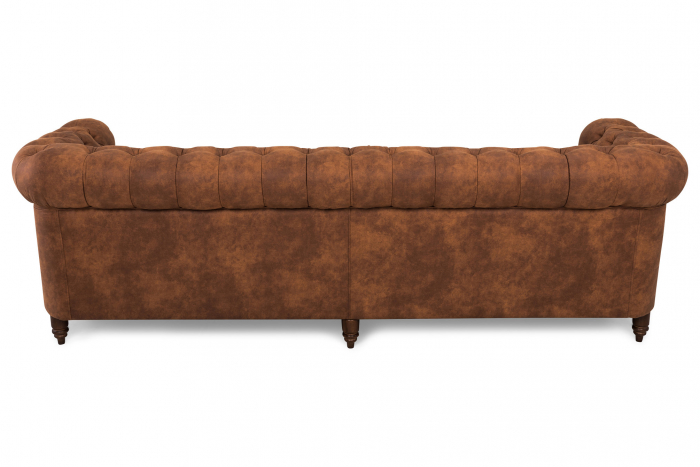 Canapea Chesterfield, 4  locuri, Maro coniac , 238x80x86 cm 2