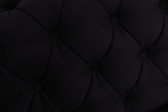 Canapea Chesterfield, 4  locuri, Negru, 238x80x86 cm 7