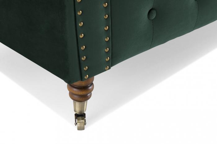 Canapea Chesterfield, 4  locuri, Verde, 238x80x86 cm 6