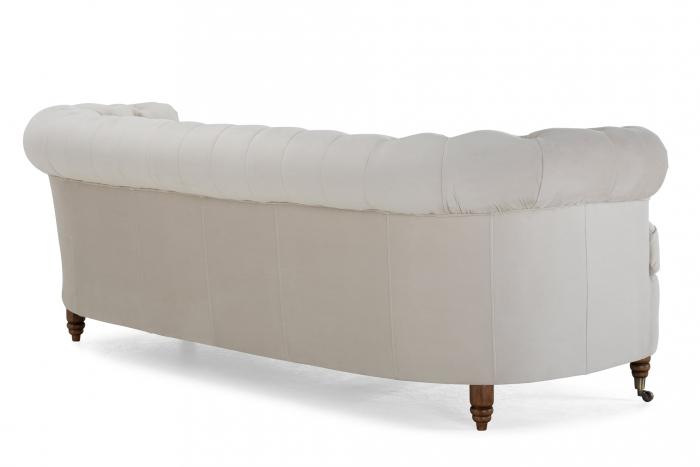 Canapea Chesterfield, Curbata, Bej, 230x80x86 cm 3