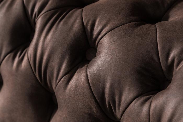 Canapea Chesterfield, Curbata, Maro , 230x80x86 cm 8