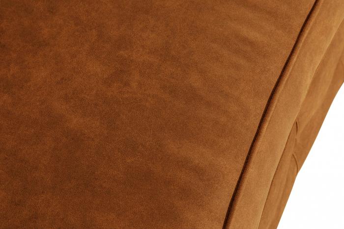 Canapea Chesterfield, Curbata, Maro coniac , 230x80x86 cm 6