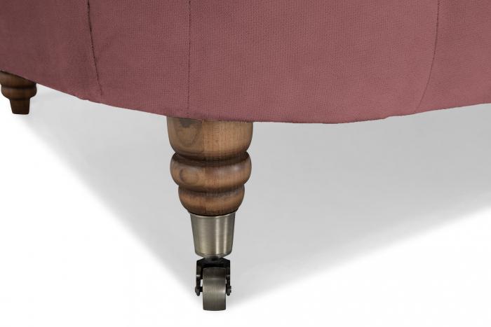 Canapea Chesterfield, Curbata, Roz, 230x80x86 cm 6