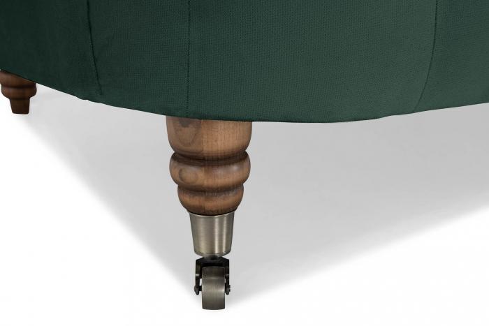 Canapea Chesterfield, Curbata, Verde, 230x80x86 cm 5