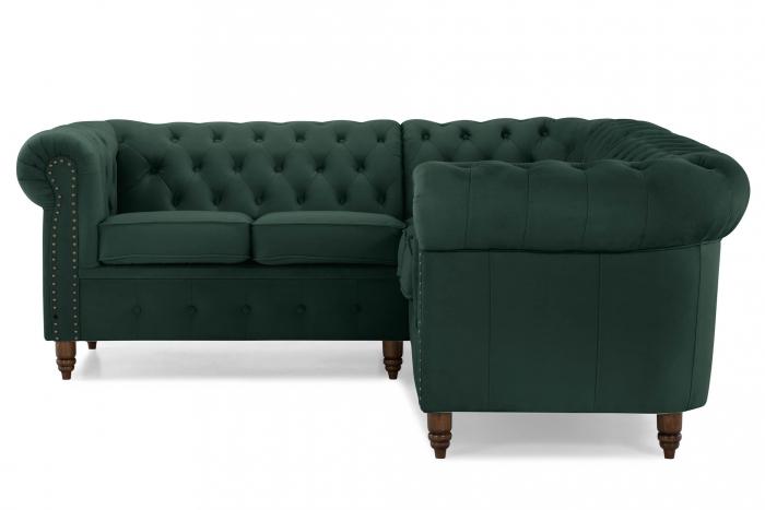 Canapea Chesterfield, Verde, 205x80x86 cm 1