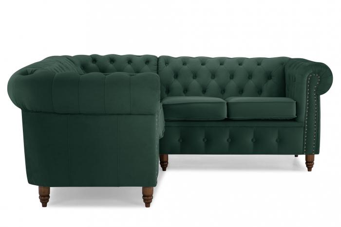 Canapea Chesterfield, Verde, 205x80x86 cm 2