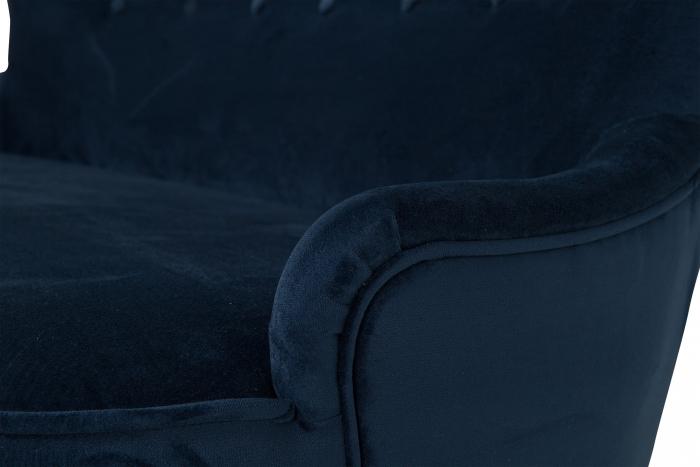 Canapea Diana 2H, Albastru petrol, 140xx86x67 cm 2