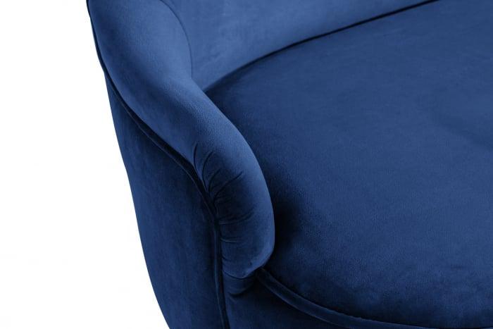 Canapea Diana 3H, Albastru, 140x86x67 cm 5