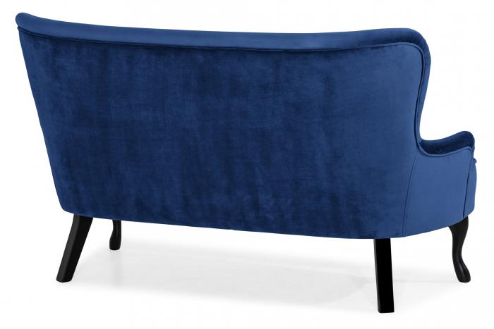 Canapea Diana 3H, Albastru, 140x86x67 cm 3