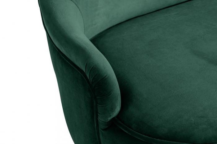 Canapea Diana 3H, Verde inchis, 140x86x67 cm 5