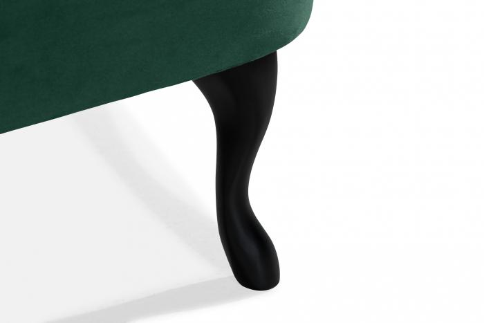 Canapea Diana 3H, Verde inchis, 140x86x67 cm 7