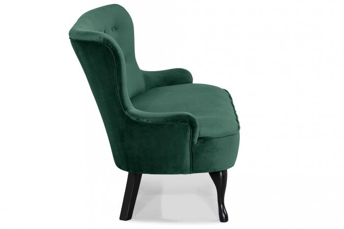 Canapea Diana 3H, Verde inchis, 140x86x67 cm 2